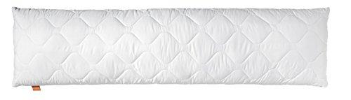 sleepling Seitenschläferkissen Stillkissen aus Softer Mikrofaser 40 x 145 cm, 1.200 Gramm Füllgewicht mit Reißverschluss, weiß