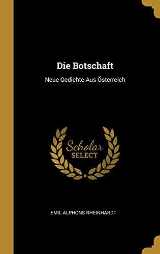 GER-BOTSCHAFT: Neue Gedichte Aus Österreich