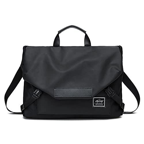 WXYPP Bolsa de Hombro portátil de la Bolsa Protectora con Estilo portátil con Estilo Compatible con laptops de 13.3-16 Pulgadas Maletín (Color : Black, Size : 15.4 Inch)