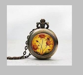 Honey Bee Garten Anhänger Taschenuhr, Honey Bee Garden Halskette Pocket Watch Charm, Honey Bee Anhänger Taschenuhr Glass Tile Schmuck, Glas HONEY BEE Garden Watch, Honey Bee Garten potphoto