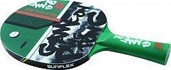 Game ON SCHLÄGER sunflex Tischtennisschläger Game ON, mit 3 farbig bedrucktem Belag auf der Vorderseite für den besonderen Spielspaß, im angesagten Retro Design aus der neuen Game ON.PING Pong Serie.