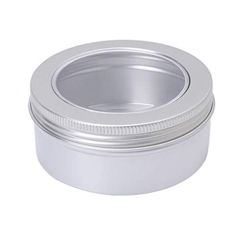 JSJJAUJ Botella de envase cosmético Contenedor de ollas cosméticas de Aluminio vacío Maquillaje de contenedores de Recipiente Tarrar Ventana Superior de la Vista Superior 150ml P9YD