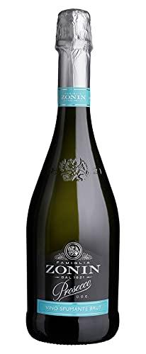 Zonin Prosecco D.O.C. Vino Spumante Brut (1 x 0.75l), feinperlend, platingelb im Glas, zum Genießen mit besten Freunden
