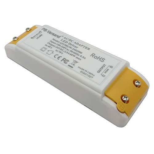 Trasformatore LED 24 Volt DC 60 Watt DC alimentatore di rete driver, trasformatore a basso voltaggio 60 W LED