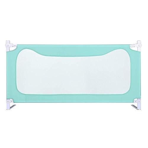 KOSGK Sängskyddsräcke säng metallram och tygöverdrag vikbar Passar alla madrasser Halkbeständig tre färger (Storlek: 180 cm)