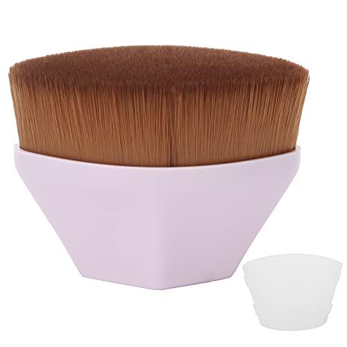 Cepillo de base para maquillaje líquido, cepillo cómodo para el cabello Brocha...