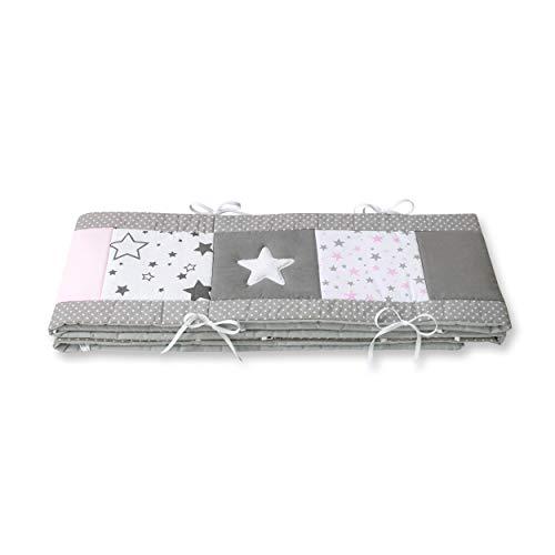 Amilian® Bettumrandung für Kinderbett Baby Nest Kopfschutz Nestchen Bettnestchen Baby Kantenschutz (MIX 22, 420cm (für das Babybett 140x70cm- rundherum))