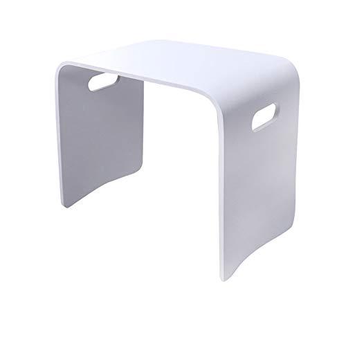 chenyang86 Tabouret - chaussures de maison en bois massif de mode simple petit tabouret carré pour tabouret de table à manger (Couleur : Blanc, taille : 43 * 31 * 40cm)