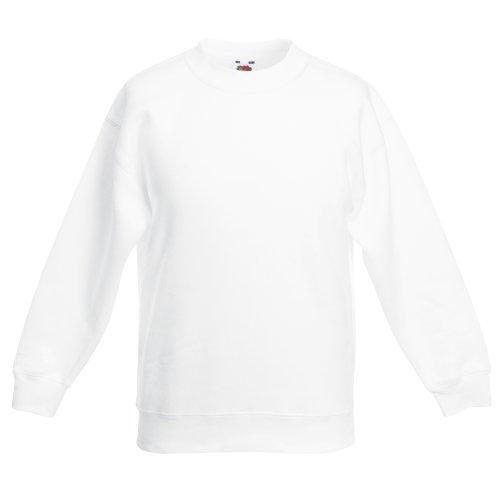 Fruit of the Loom - maglietta da bambino/a, colori assortiti bianco 9/11 anni