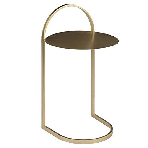 Vidal Regalos Mesa Auxiliar Metal Dorada 63 cm