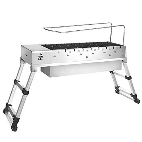Automatisch rotierender Grill, 360°-Heizung, Verschiedene Stromversorgungsmodi, rauchfreier Edelstahlgrill mit Tisch und Stühlen