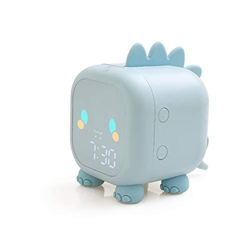High song Despertador Despertador De Dibujos Animados LED Control De Voz Tiempo De Voz Digital, Decoración De Escritorio Pesada, con Pantalla De Temperatura. (Color : 2)