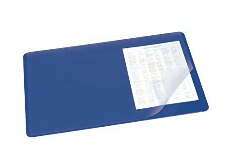Durable 720207 - Tampone da Scrivania con Copertura Trasparente, 530 x 400 mm, 1 Pezzo, Blu Scuro