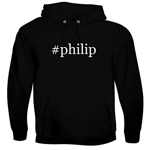 #philip - Men's Soft & Comfortable Hoodie Sweatshirt, Black, X-Large