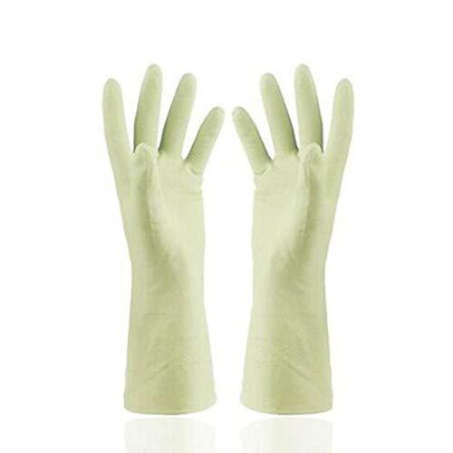 Houer Snijbestendige Beschermende Handschoenen Hittebestendige Rubberen Handschoenen Waterdicht voor BBQ Koken Afwassen, Groen, M
