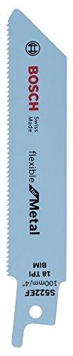 Bosch Professional Säbelsägeblatt S 522 EF, Flexible für Metal, 2-er Pack, 2608657721