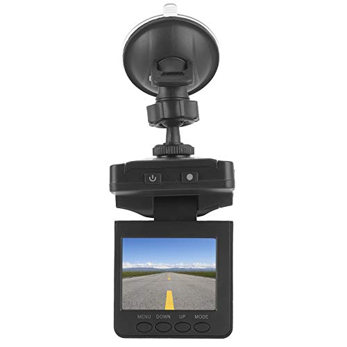 Akozon 1080P Dash Cam DVR Cámara de coche de 2,5 pulgadas Pantalla LCD TFT 120 grados 6 luces Grabación en bucle de visión nocturna