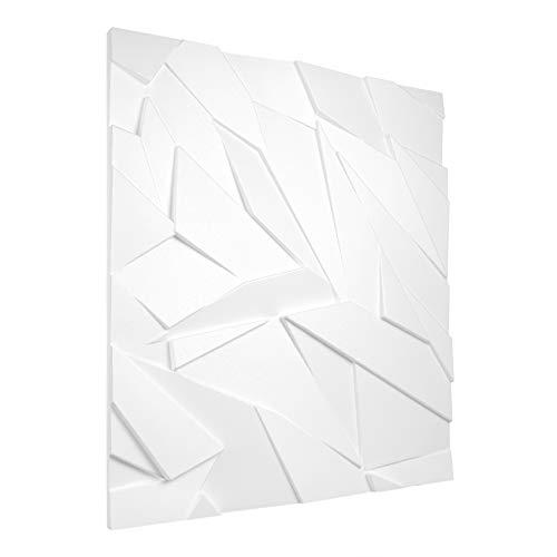 3D Panel Saver Set Styrofoam Platen Wandpaneel Eps 60x60cm Saffier 12.96 Square Meters Kleur: wit
