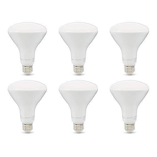 Amazon Basics 65W Equivalent, Soft White, Dimmable, 10,000 Hour Lifetime, BR30 LED Light Bulb | 6-Pack