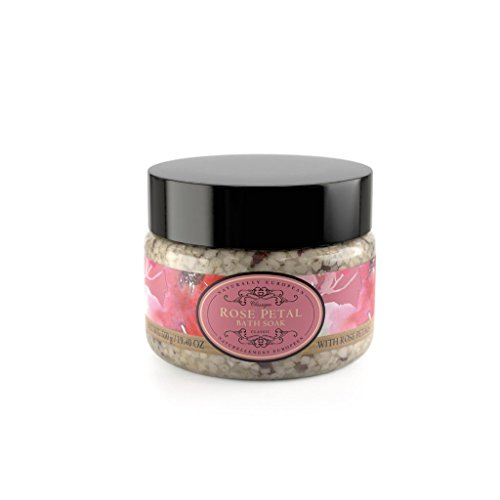 Naturally European Rose Petal Aromatic Bath Soak - Bath Salts 550g | Soothing Aching Muscles | Ease Stress