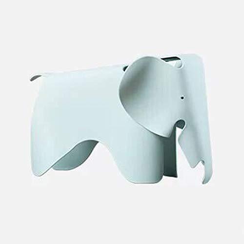 Piccolo Sgabello Creativo per Bambini Sedia casa di plastica Elefante Fumetto Sedia per Bambini Moda Asilo Sedia Giocattolo di Colore Moderno Sgabello (Color : Puhe Green)