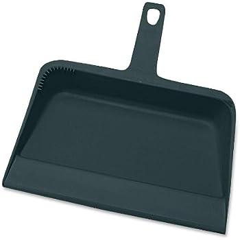 Genuine Joe GJO02406 Heavy-Duty Plastic Dust Pan, 12-inch,Black