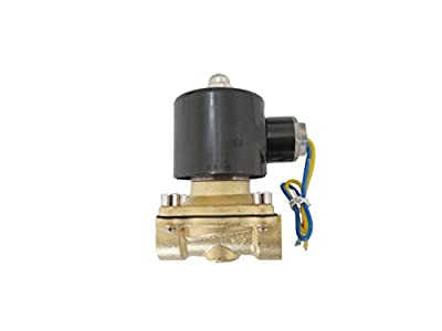 1/2 inch 12V DC VDC Slim Brass Solenoid Valve NPS Gas Water Air Normally Closed from JEM&JULES