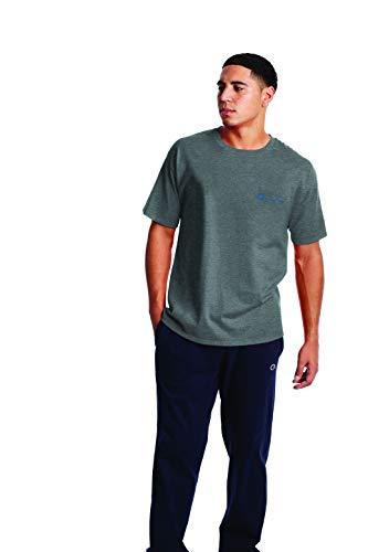 Champion Classic Graphic tee Camiseta, Granite Heather - Chaleco Ovalado (C Izquierda), XL para Hombre