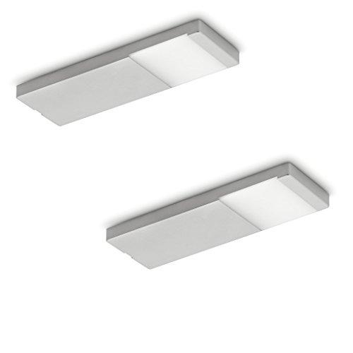 NABER Yolo Neo LED Set-2 Unterbauleuchte / Edelstahlfarbig / 3 Watt / Warmweiß