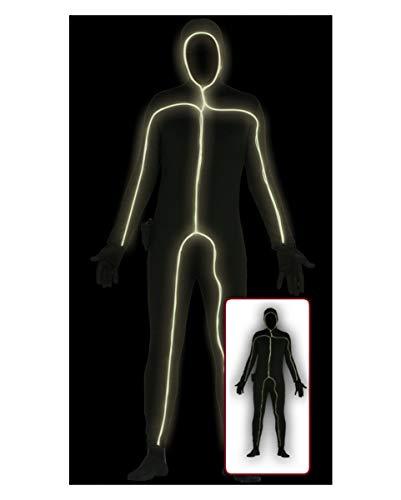 Horror-Shop Skinsuit Schwarz mit Licht One Size
