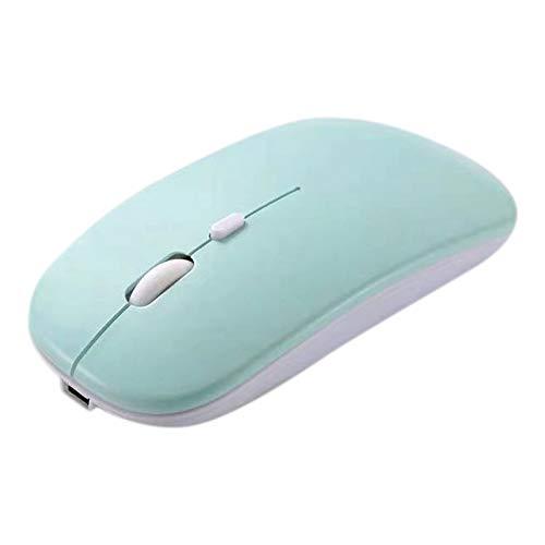 Viudecce RatóN InaláMbrico RatóN Silent Recargable Candy para Tablet Laptop PC Universal (Verde)