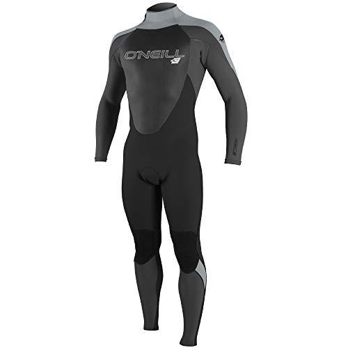 O'Neill Men's Epic 4/3mm Back Zip Full Wetsuit, Black/Black/Cool Grey, Medium