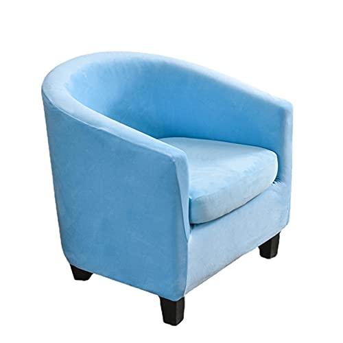 DZYP 2 Stücke Samt Sesselschoner Stretch Sesselhusse Elastisch Sofahusse Sesselüberwurf Sesselbezug Möbelschutz Husse Für Clubsessel Wannesessel Loungesessel (Blau)
