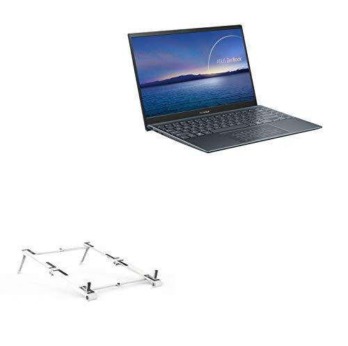 Suporte e suporte BoxWave para ASUS ZenBook 14 UM425UG [suporte de alumínio de bolso 3 em 1] Portátil, suporte de visualização em vários ângulos para ASUS ZenBook 14 UM425UG - Prata metálica