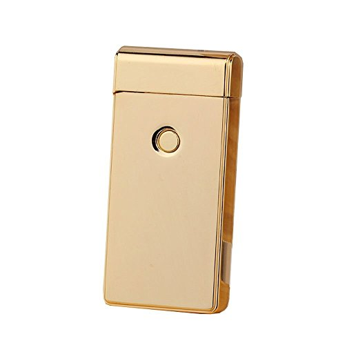 STARDUST アーク放電 プラズマ ライター ジッポータイプ シンプル 焼きチタン風 父の日 プレゼント (ゴールド) SD-XZ-2042-GD