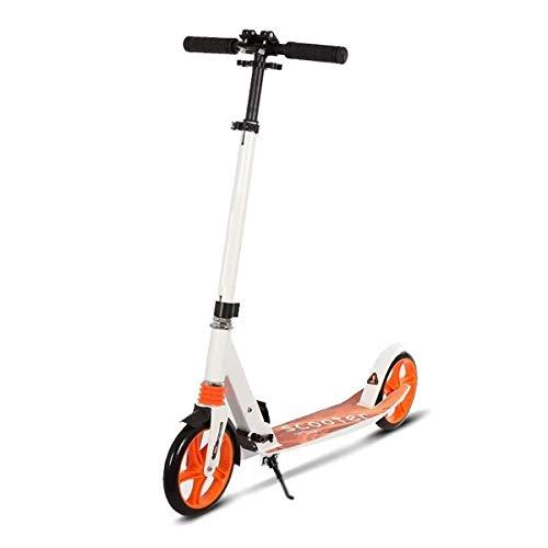 Patinete Scooter Niño 2 Ruedas Patinetes Plegable Ajustable Altura City Roller Freestyle para Niño y Niña de 3 a 14 Años Bebe Juguetes y Regalos, H013ZJ (Color : Orange)