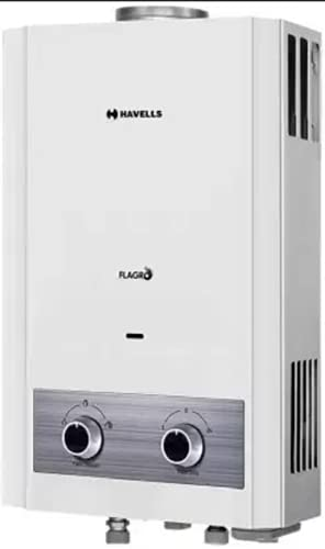 Havells 6 L Gas Water Geyser (1.2 kg 6L Flagro Geyser, White)