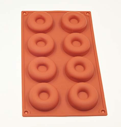 Selecto Bake - 8 Cavity Doughnut Donut Ring Chocolate Pan Brown