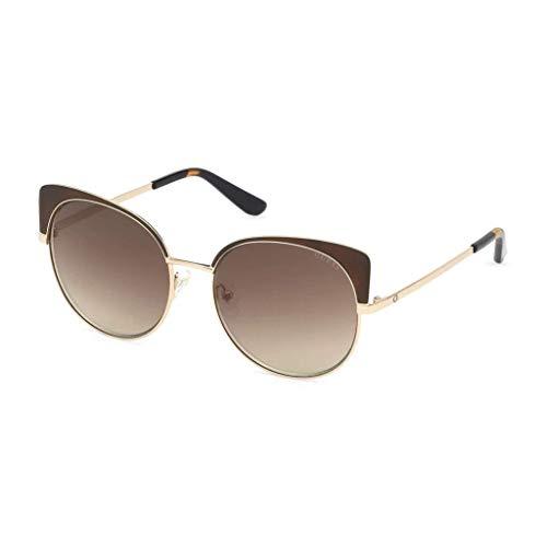 Guess Women's Mirrored Gu7599 GU7599-50G-56 Brown Round Sunglasses