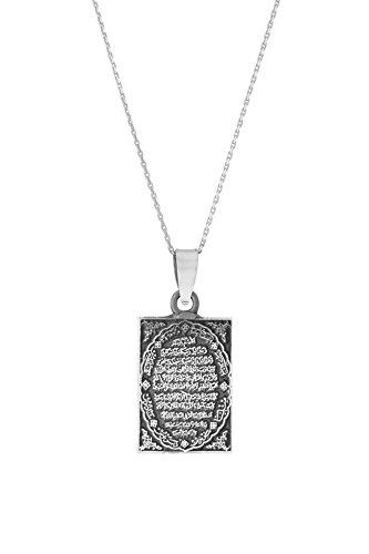 Remi Bijou 925 Silber Halskette mit Anhänger 'Gebet' Islam Allah Muslim Kuran Koran Quran