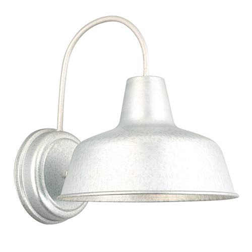 Design House 520965 Mason 1 Light Indoor/Outdoor Wall Light, Galvanized Steel Finish