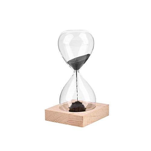 Fangfeen Mundgeblasenem Sand Timer Holzsockel Magnet Craft Sanduhr für Geschenk Desktop Home Dekoration
