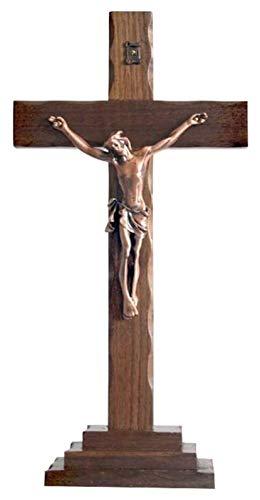 GRBD Acessórios de Decoração e Decoração para Casa Escultura Cruz de Cristo, Estátua de Crucificação Feito à Mão Estátua de Madeira Sólida Católica Decoração Acessórios Decoração