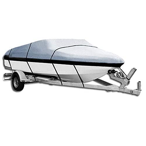 HMHMVM Cubierta de barco para remolque, cubierta para barco, resistente 210D, impermeable, Oxford, duradera, para barco, para yates en V, casco de pesca, barcos de esquí