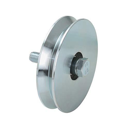Rueda de puerta correderas y porton diametro 80mm, para perfil en V, en acero zincado - MADE IN ITALY - precio e qualidad profesional