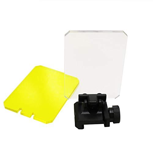JCstarrie Lente de Alcance táctico, Protector de Pantalla de Caza Alcance Plegable Reflex Lens 20mm QD Mount For Red Dot Sight Scope Portada