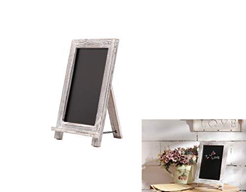 Dipamkar® 24 x 35 cm - Ardoise Chevalet Noir, Rustique Tableau Ardoise - Affichage Prix, Menu Mariage, Decoration de Table sur Tableau Craie