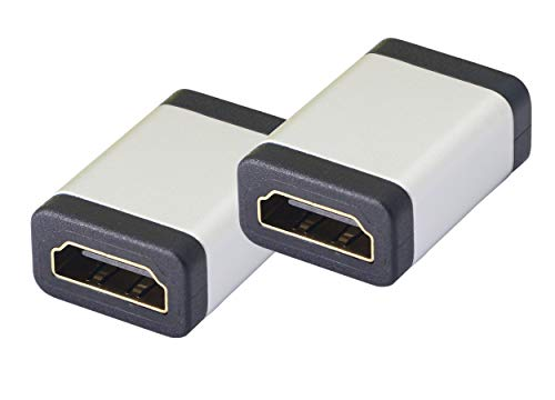 HDMI Coupler,4K HDMI Connector Female to Female Adapter,Aluminum Alloy HDMI Extender Support 3D 4K 1080P Extending HDMI Devices - 2 Pack