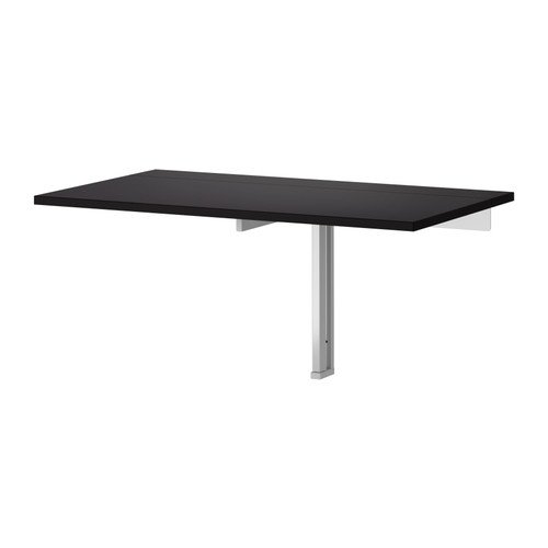 Ikea BJURSTA drop-leaf table, 35 3/8x19 5/8'', Black