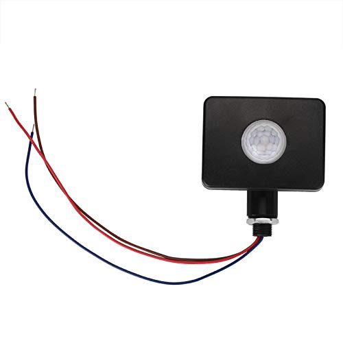 Emoshayoga Interruptor de luz con Sensor PIR Sensor de Movimiento infrarrojo Detector de Infrarrojos Sótanos de jardín automáticos para baños domésticos